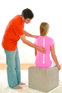 Streichende Massagebewgungen