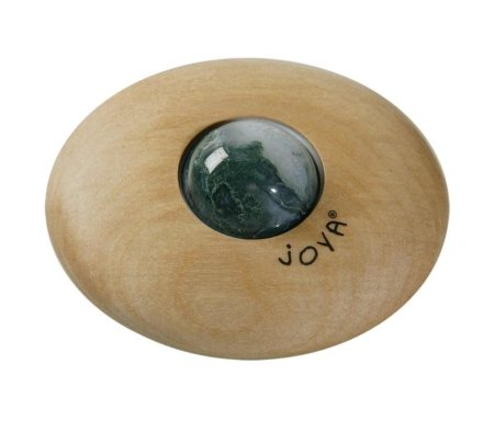 Massage Roller von JOYA aus Birkenholz mit dem Edelstein Moosachat